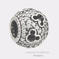 Authentic Pandora Sterling Silver Disney Mickey Silhouettes CZ Bead 791442CZ