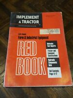 Old vintage 1971 Red Book implement & tractor jan. 31 farm industrial equipment