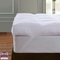 Goose Feather Down Mattress Topper Enhancer Luxury 12.5cm Bed Protector Hotel UK