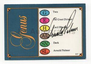 Arnold Palmer - PGA Champion Golfer - Signed Trivial Pursuit Card