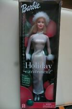 NEUF - Barbie Holiday Excitement 2001 Special Edition Holiday Dolls Noël Mattel