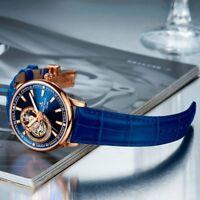 Luxury Sapphire Crystal Tourbillon Automatic Mechanical Men's Watch Business