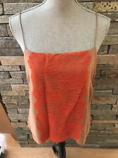 NWT J Crew Collection Silk Camisole - Orange Lace - Size 10