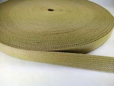15 feet of 1 inch KHAKI cotton belt webbing straps crafts fashion