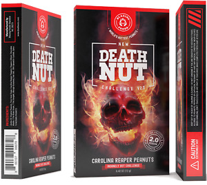 The Death Nut Challenge Version 2.0 world's hottest Carolina reaper peanuts