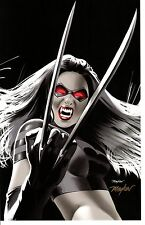 2014 COMIKAZE EXPO X-MEN X23 ART PRINT SIGN BY MIKE MAYHEW 10 3/4 x 16 3/4