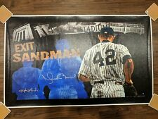 """Stephen Holland """"Exit Sandman"""" Mariano Rivera Giclee Painting Print Signed Auto"""