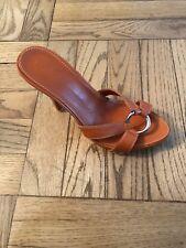 5f8a29c7f New Giuseppe Zanotti Orange Leather Mules Sandals Size 35.5