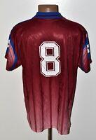REGGIO CALCIO ITALY 1990'S HOME FOOTBALL SHIRT JERSEY LOTTO #8 SIZE XL ADULT