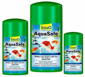 Tetra POND Aquasafe 250ML 500ML 1000ml 1L Garden Pond Tap Safe Chlorine Remover