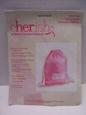 Cherish Peace Love Cure Breast Cancer Pink Sport Sac Bag NEW