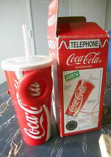 gobelet telephone coca cola 1990 en boite - coca cola 1990 phone cup in box