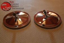 """Round Chrome 5"""" Outside Outer Rear View Mirror Set Chevy Truck Hot Rat Rod Pair"""