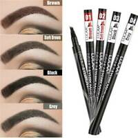 Eyebrow Microblading Tattoo Ink Pen Cosmetic Waterproof 4 Fork Tip Brow Makeup