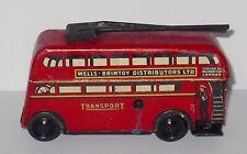 Vintage Wells Brimtoy - Clockwork - Trolley Bus.
