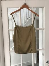 APANAGE Germany Khaki Silk Vest Top Size UK 12 Brand New RRP £49
