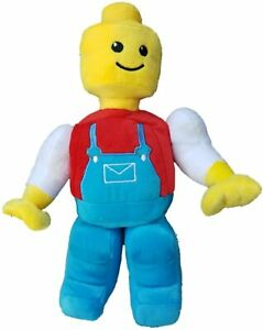 """Construction Worker Builder Lego Man Style Plush Toy 12"""""""