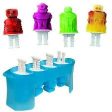 Tovolo Robot Ice Pop Molds Popsicle 4 Set Frozen Treats Kids Summer Fun 81-12097