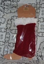 LADIES KNIT BOOT COVERS PR WITH CROCHET TOP CRIMSON/WHITE ALABAMA FANS WEAR