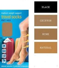 1 or 2 Pairs Graduated Support Flight Travel Socks Compression Tudorose Size 4-7