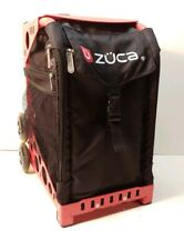 Zuca Rolling Bag Obsidian Red Black Excellent Condition Luggage