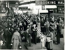 More details for original photograph bristol temple meads railway station busy platform 1950's