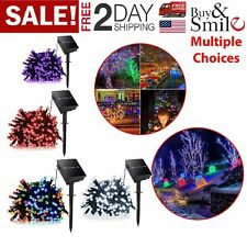 100 LED Solar Power String Lights Christmas Fairy String Garden Outdoor indoor H