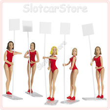 Carrera 21113 Gridgirls 5 Figuren Slotcar Dekoration 1:32 (auch 1:24 1:43)