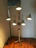 Vintage Lamp Space Age Multi Arm Hair Salon Atomic Medical Rare Floor Industrial