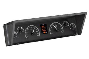 1977-90 Caprice Impala Dakota Digital Black Alloy HDX Custom LED Gauge Dash Kit