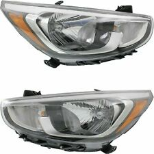 FIT FOR HY ACCENT 2015 2016 2017 HEADLIGHT HALOGEN RIGHT & LEFT PAIR SET