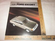1982 Ford Escort Sales Brochure