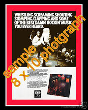 JOHNNY WINTER  AND live RICK DERRINGER FILLMORE 8 X 10 PHOTO ad with color