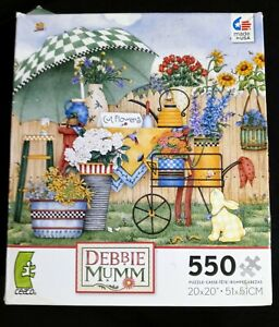Ceaco 550 Piece Puzzle Artwork by Debbie Mumm Flowers Complete Free Shipping