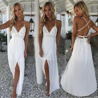 Hot Women Summer Boho Long Maxi Dress Evening Party Cocktail Beach Sundress