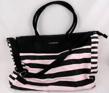 Victorias Secret Weekender Large Tote Bag Pink & Black Striped Women's