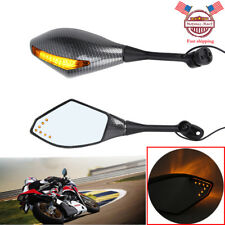 Carbon Fiber LED Integrated Turn Signal Mirrors for Honda CBR600RR CBR1000RR 929