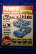 Mot 6/79 VW Passat 5 Cylindre Opel Manta cc Volvo 264