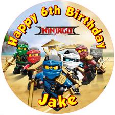 "Lego Ninjago  personalised  Edible icing sheet 7.5"" Round  cake topper  Birthday"