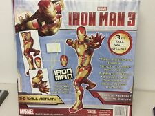 Marvel Iron Man 3 Avengers Initiative 3D Wall Activity Glow In The Dark Decal