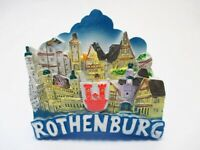 Rothenburg Tauber Magnet Altstadt Poly Relief Souvenir Germany 7 cm