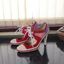 Miss Sixty Red Shoes Size:4 Eu:37