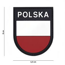 Polen Polska #1119 Patch Klett Abzeichen Airsoft Paintball Softair