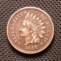1862 Indian Head Cent/Penny - Very Fine VF