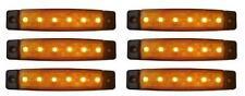 6 x 12V 12 VOLT SMD 6 LED  AMBER SIDE MARKER LIGHT FOR VAN CARAVAN CAMPER TRUCK