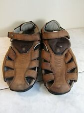 Teva Men's Sampago Fisherman Closed Toe Sandals Sz 12 Brown Leather #6809 Vibram