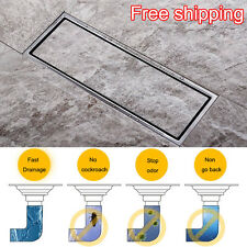 Tile Insert Stainless Steel Invisible Linear Shower Drain Wetroom Grate