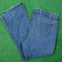 VTG LEVIS ORANGE TAB MEDIUM WASH DENIM BLUE JEANS MENS SIZE 42X29
