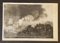 Vintage San Francisco California Nob Hill 1906 Earthquake Real Picture Postcard
