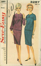 Vintage Misses Two Piece Dress Sewing Pattern A3287 Size 14